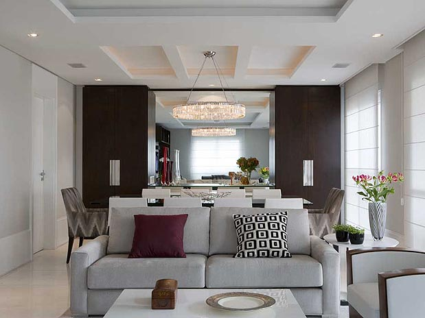 Sala De Estar Integrada Com Jantar ~ Integradas, as salas de estar e jantar têm decoração harmônica e