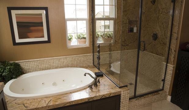 Decoração de Interiores  É com muito carinho que conservo este espaço!!!  P -> Banheiro Com Pastilha Marron E Bege